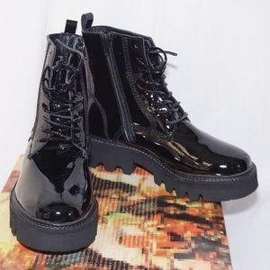 NEW Jeffrey Campbell Agira Black Combat Boots